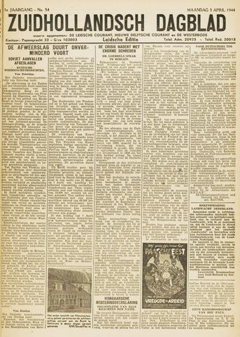 Zuidhollandsch Dagblad 1944-04-03