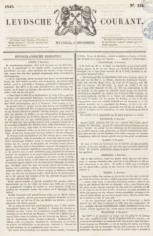 Leydse Courant 1846-11-09
