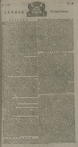 Leydse Courant 1736-06-29