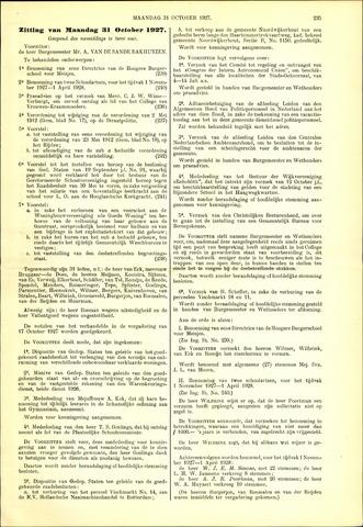 Handelingen van de Raad 1927-10-31