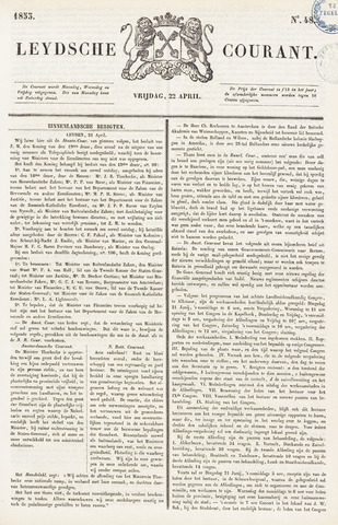 Leydse Courant 1853-04-22