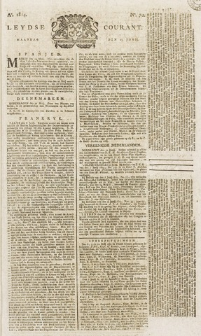 Leydse Courant 1814-06-13