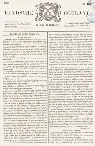 Leydse Courant 1850-08-16