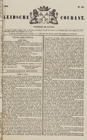 Leydse Courant 1885-01-28