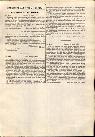 Handelingen van de Raad 1919-04-29