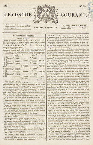 Leydse Courant 1853-08-08
