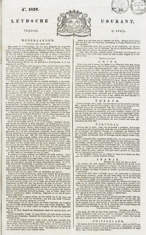 Leydse Courant 1838-04-27