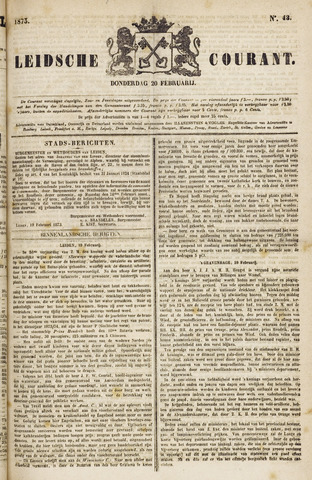 Leydse Courant 1873-02-20