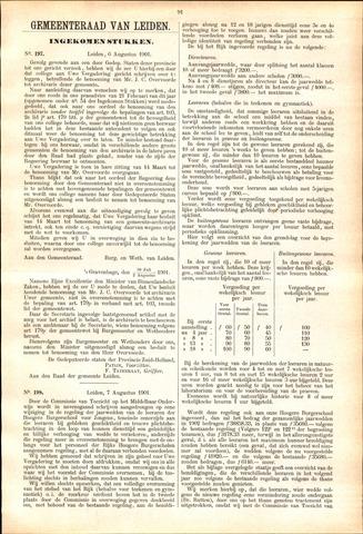 Handelingen van de Raad 1901-08-06