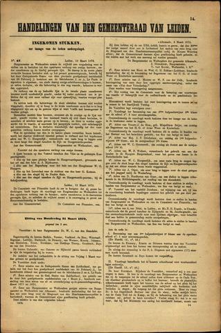 Handelingen van de Raad 1872-03-18