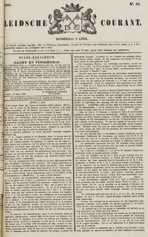 Leydse Courant 1885-04-09