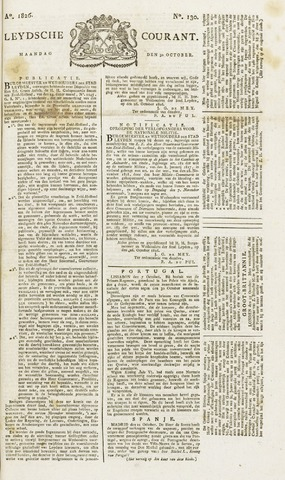 Leydse Courant 1826-10-30