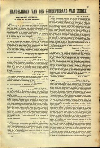 Handelingen van de Raad 1874-05-20
