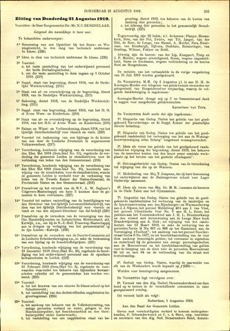 Handelingen van de Raad 1919-08-21