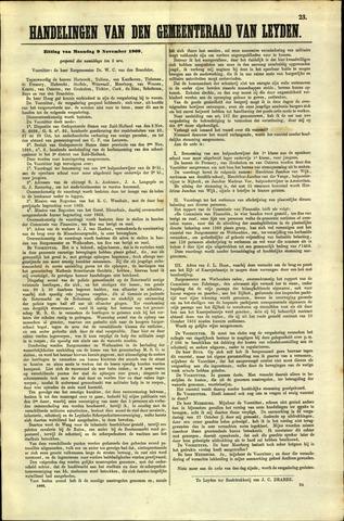 Handelingen van de Raad 1868-11-09