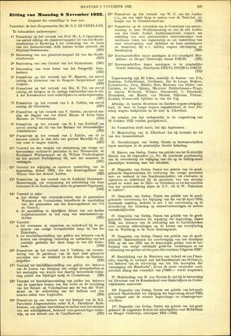 Handelingen van de Raad 1922-11-06