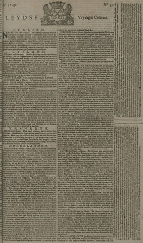 Leydse Courant 1749-03-14