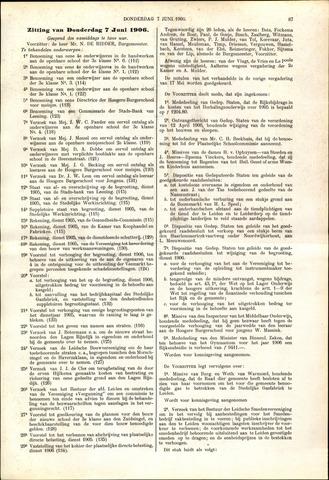 Handelingen van de Raad 1906-06-07