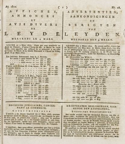 Leydse Courant 1812-03-04