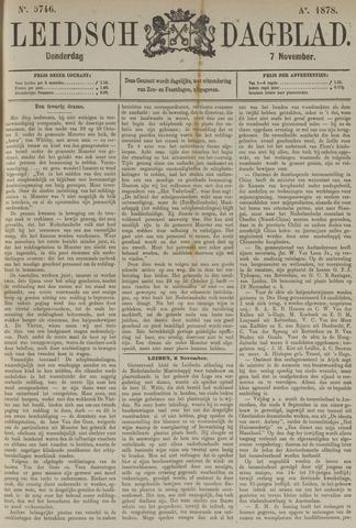 Leidsch Dagblad 1878-11-07