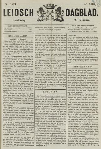 Leidsch Dagblad 1868-02-20
