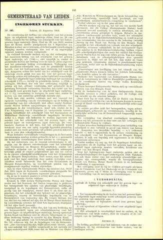 Handelingen van de Raad 1934-08-25