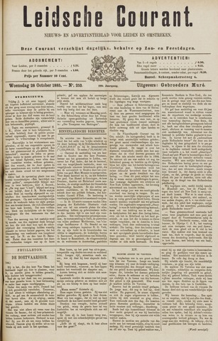 Leydse Courant 1885-10-28