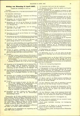 Handelingen van de Raad 1927-04-11