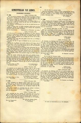 Handelingen van de Raad 1883-11-08
