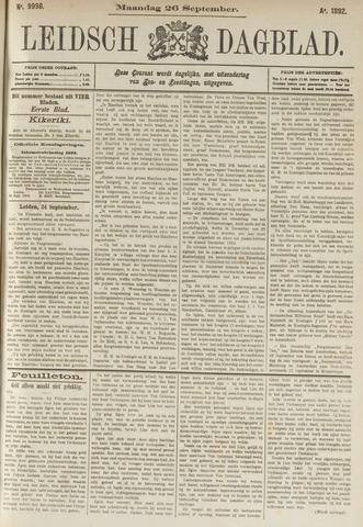 Leidsch Dagblad 1892-09-26