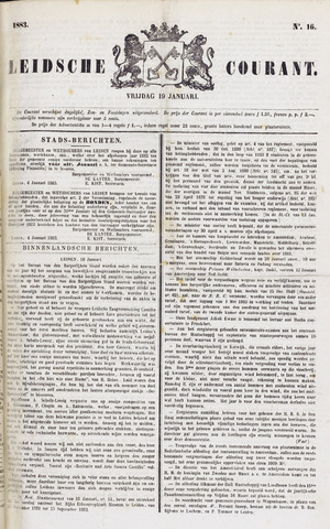 Leydse Courant 1883-01-19