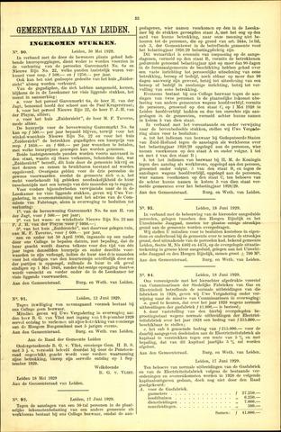 Handelingen van de Raad 1929-05-30