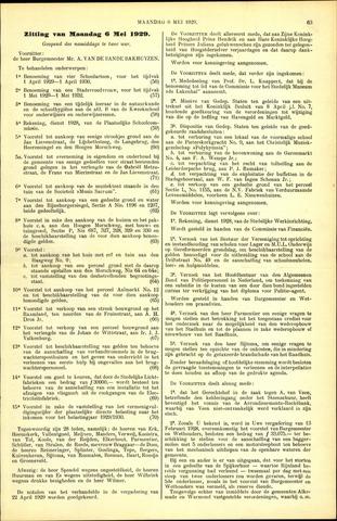 Handelingen van de Raad 1929-05-06