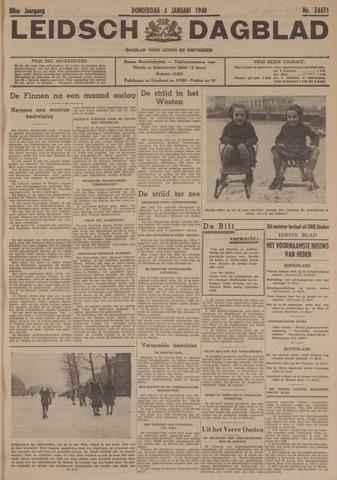 Leidsch Dagblad 1940-01-04