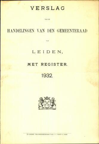 Handelingen van de Raad 1932-01-01