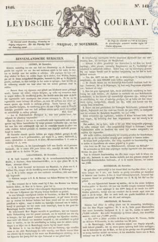 Leydse Courant 1846-11-27