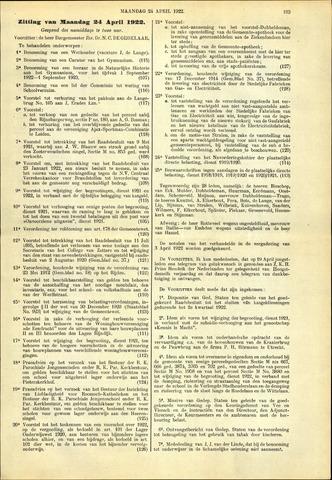 Handelingen van de Raad 1922-04-24