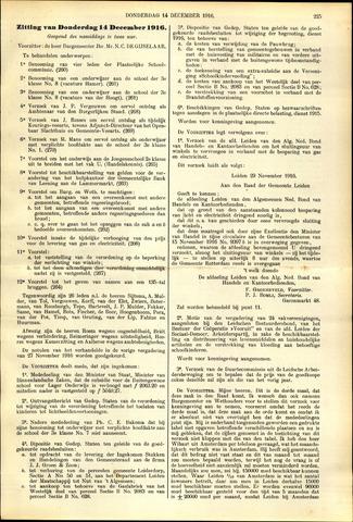 Handelingen van de Raad 1916-12-14