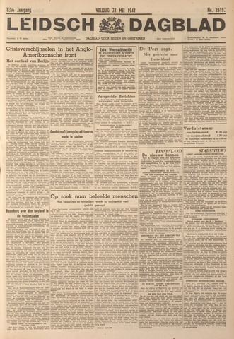 Leidsch Dagblad 1942-05-22