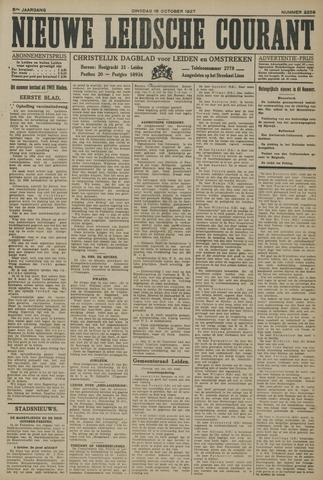 Nieuwe Leidsche Courant 1927-10-18