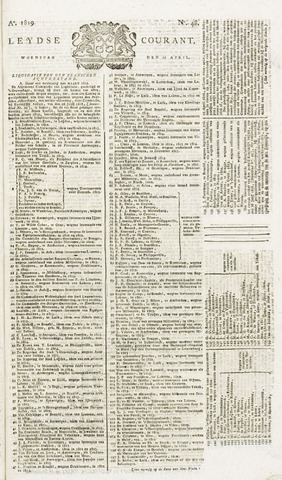 Leydse Courant 1819-04-21