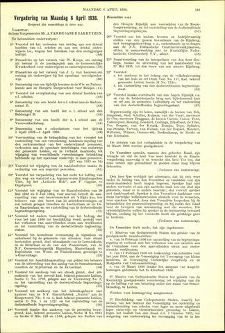 Handelingen van de Raad 1936-04-06