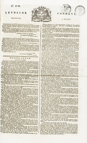Leydse Courant 1841-03-15