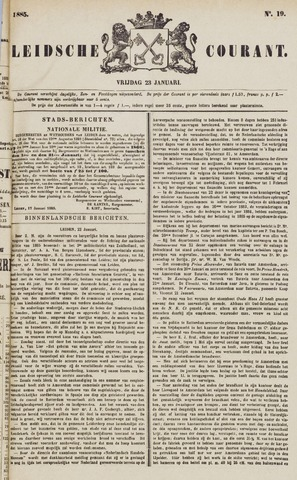 Leydse Courant 1885-01-23