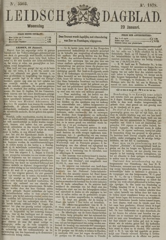 Leidsch Dagblad 1878-01-23