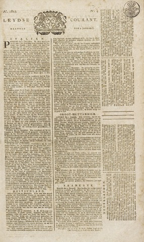 Leydse Courant 1815-01-09