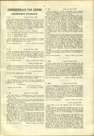 Handelingen van de Raad 1905-04-27