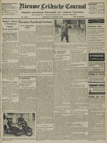 Nieuwe Leidsche Courant 1938-10-11