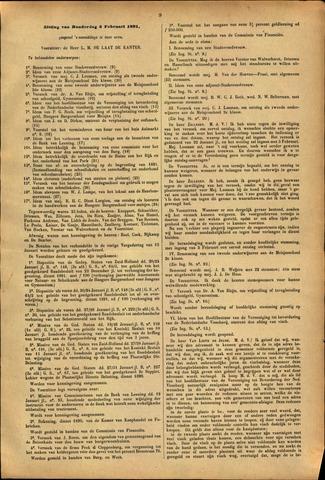 Handelingen van de Raad 1891-02-05