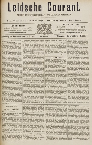 Leydse Courant 1885-09-10